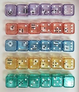 "DOUBLE DICE! ""INNIES & OUTIES"" *30* ASSORTED D6 COLORS! TWO ROLLS IN ONE!"