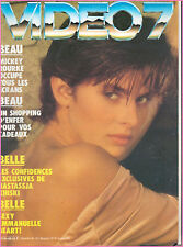 ▬►VIDEO 7 N° 62 (1986) NASTASSJA KINSKY_MICKEY ROURKE_EMMANUELLE BEART_CAHIER X