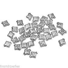 300 Perles Spacer Losange Accessoire Pr Collier Bracelet 8x10mm