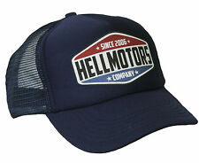 Hellmotors Trucker Cap Navy Hot Rod US Car Oldschool Biker Mütze Hut Rockabilly