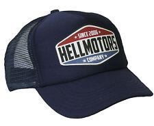 Hell Motors Trucker Cap Navy Hot Rod US Car Oldschool Biker Berretto Cappello Rockabilly