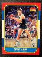 1986 Fleer Basketball Danny Ainge Rookie Card #4 EX-NRMT Condition