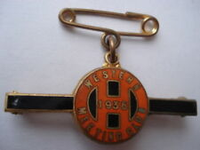 RARE 1936 Western meeting club Horse Racing Lady membres Broche