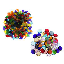 260g Round Rhombus Colorful Clear Glass Mosaic Tiles for Handmade Ornament