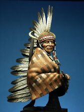 SK Miniatures Jicarilla Apache Warrior 1/9th UNPAINTED resin bust CARL REID