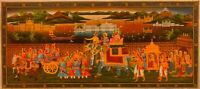 Hand Painted Finest Work Miniature Gold detailed Procession King Queen Udaipur