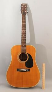 Vintage 1972 Classic FENDER F-65 Dreadnought Acoustic Guitar, No Reserve