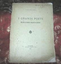 I Grandi Poeti dell'Età di Cesare e dell'Età di Augusto di G. Giri 1897 Autograf