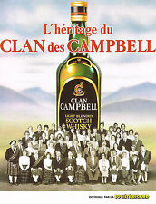 PUBLICITE ADVERTISING   1982   CLAN CAMPBELL   whisky L'HERITAGE