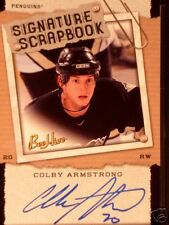 UPPER DECK BEEHIVE SIGNATURE SCRAPBOOK COLBY ARMSTRONG