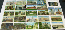 1930's 1940's LINEN Postcard Lot ~ INDIANA ~ 25 postcards ~ Free Shipping