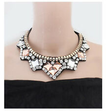 New Design Gorgeous Bib Statement Women Multicolor Crystal necklace Collar P63