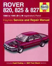 Haynes Workshop Manual 1380 Rover 820, 825 & 827 Petrol 1986 to 1995 H1380