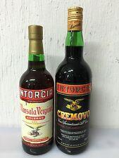 2 Bottiglie Intorcia Marsala Vergine Soleras - Cremova Vino Aromatizzato Anni 90