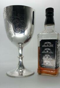 A SUPERB Sterling Silver Goblet Walker & Hall 15 Troy Oz 2 pint 1905 467g Trophy