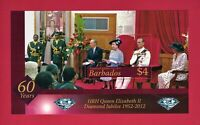 Barbados 1952 - 2012 Diamond Jubilee - M/S Royalty Queen Elizabeth II MNH Stamp