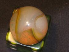 Milky Lemon Opal Multi Color Vintage Peltier Glass Marble Mint