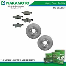 Nakamoto Posi Metallic Brake Pad & Rotor Front Kit for Ford Escape Mazda Tribute
