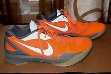 24efac6e84d1 Nike Hyperdunk Flywire Zoom Basketball Shoes Mens Sz 11.5M Orange Gray GC!