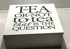 To Tea or not to Tea Wooden Tea Chest 50 Wrapped Mixed Tea Bags Free Delivery