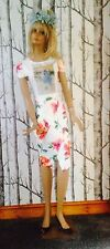 *RARE* Budgie Dress Frock Vintage Handmade Kitch Going Cheep Retro Floral