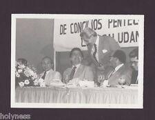 VINTAGE PRESS PHOTO / GOV. RAFAEL HERNANDEZ COLON / PUERTO RICO / 1980's / #19