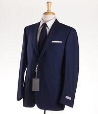NWT $2095 CANALI 1934 Navy Shadow Stripe 'Travel' Wool Suit 38 R Classic-Fit