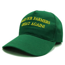 Make Our Farmers Great Again! Green baseball cap Hat Donald Trump adjustable USA