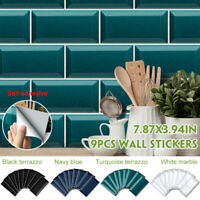 3D Self Adhesive Tile Stickers Art Decals DIY Wall Sticker Home Kitchen Decor