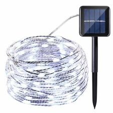 10M 100LED Solar Fairy String Light Outdoor Wedding Christmas Party Lamp Decor