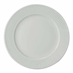 Pillivuyt, Plissé White Porcelain Dinner Plate, 11 Inches Diameter
