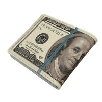 Cute Bifold 100 US Dollar Money Purse Novelty Gift Male Men Wallet Women Purse
