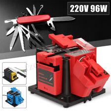 96w Electric Multi Drill Bits Chisel Scissor Plane Sharpener Grinding Wheel