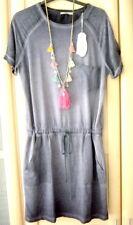 edc by Esprit**leichtes Sommer Kleid**Gr. L,40,42, blau,oil wash Look,neu+Etik.