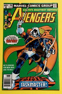 Avengers #196 Newsstand Cover - 1st Full Taskmaster - HIGH GRADE🔥💀