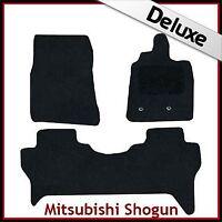 Mitsubishi Shogun Mk4 2007 onwards Tailored LUXURY 1300g Carpet Floor Mats BLACK