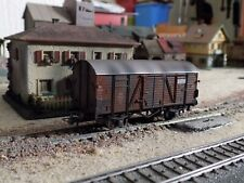 ROCO, HAND PAINTED WEATHERED VAN WAGON, SCALE HO