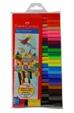 New Faber Castell Connector Sketch Pen Set of 25 Colour Colourful Textas MarkerJ