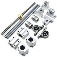 200mm Horizontal Optical Axis 8mm Lead Screw Dual Rail Shaft Support Pillow Set