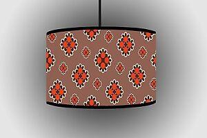 30cm Orang & Black Pendant Lampshade Handmade Ceiling Lamp Drum Lampshade