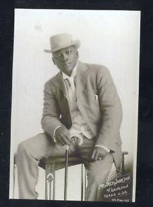 REAL PHOTO JACK JOHNSON PROFESSIONAL BOXING BOXER CHAMPION POSTCARD COPY