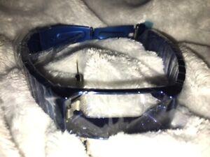 iFit Vue Fitness Activity Tracker Titanium Wristband Smart Technology-Royal Blue