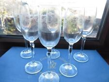 6 x BOHEMIA CRYSTAL COUNTRY COLLECTION ETCHED SHERRY/PORT GLASSES BOXED