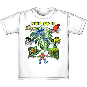 Rainforest Frogs COLOR CHANGING T-shirt - 100% Cotton FACTORY SEALED