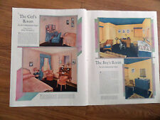1930 In the Companion House Article Ad The Girl's & Boy's Room by Hope Hammond