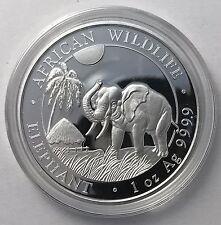 2017 Somalian Elephant 1 oz Troy Ounce .999 Silver Bullion Coin - 1000 Shillings