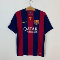FC BARCELONA HOME FOOTBALL SHIRT 2014/2015 SPAIN SOCCER JERSEY NIKE SIZE L