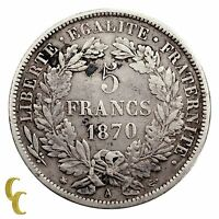 1870-A France 5 Francs (VF) Very Fine Condition