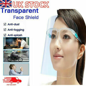 FULL FACE SHIELD  COVERING ANTI-FOG CLEAR GLASSES SAFETY PROTECTION VISOR GUARD
