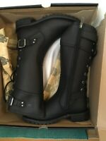 Harley-Davidson women's ALEXA Black Leather Boots NEW with Box Size 7 medium